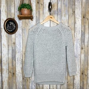 Wilfred Aritzia Gray Cable Knit Sweater
